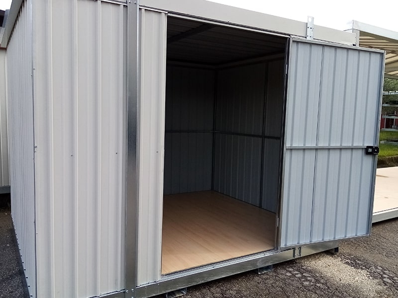 box container con base centro scaffalature