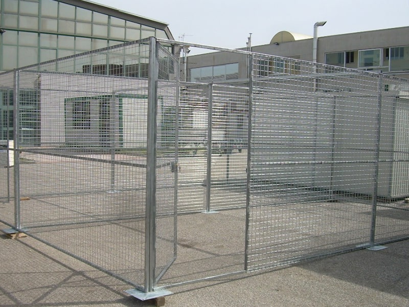 recinzione animali con doppio accesso centro scaffalature